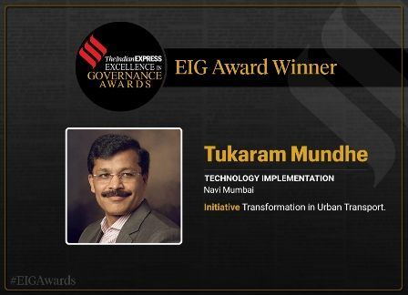 Excellence in Governance Award to IAS Tukaram Mundhe