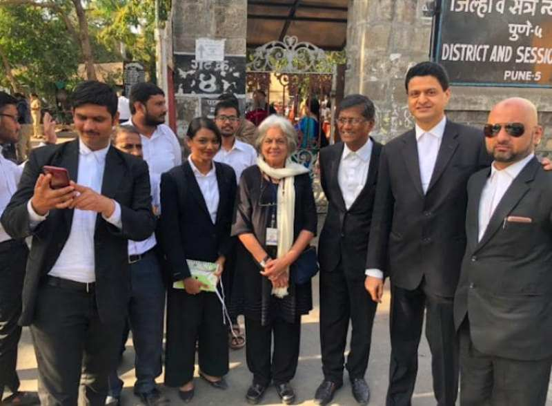 Indira Jaising with her team of lawyers