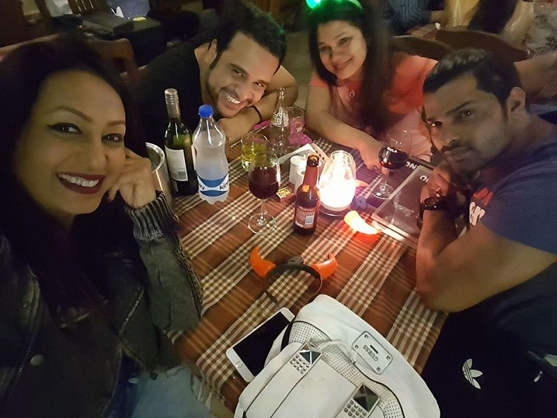 Kashmera Shah and Krushna Abhishek in a Party