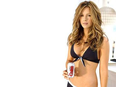 Kate Beckinsale in an Advertisement for Diet Coke