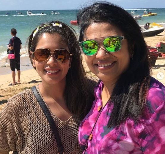 Keerthi Shanthanu with her mother-in-law