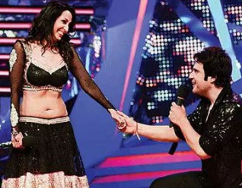 Krushna Abhishek Proposing Kashmera on the Sets of Nach Baliye
