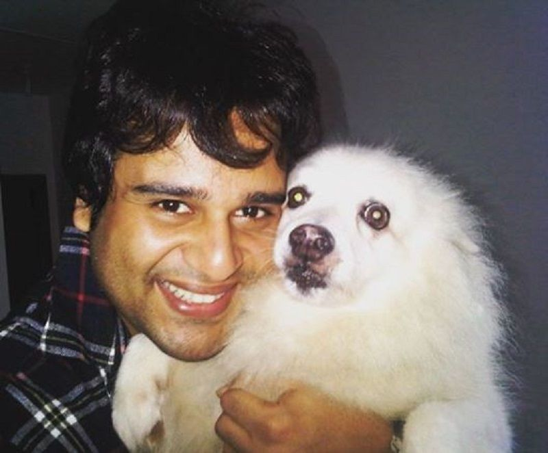 Krushna Abhishek With His Pet Dog