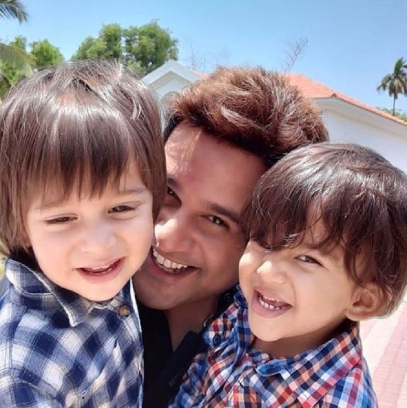 Krushna Abhishek With His Sons