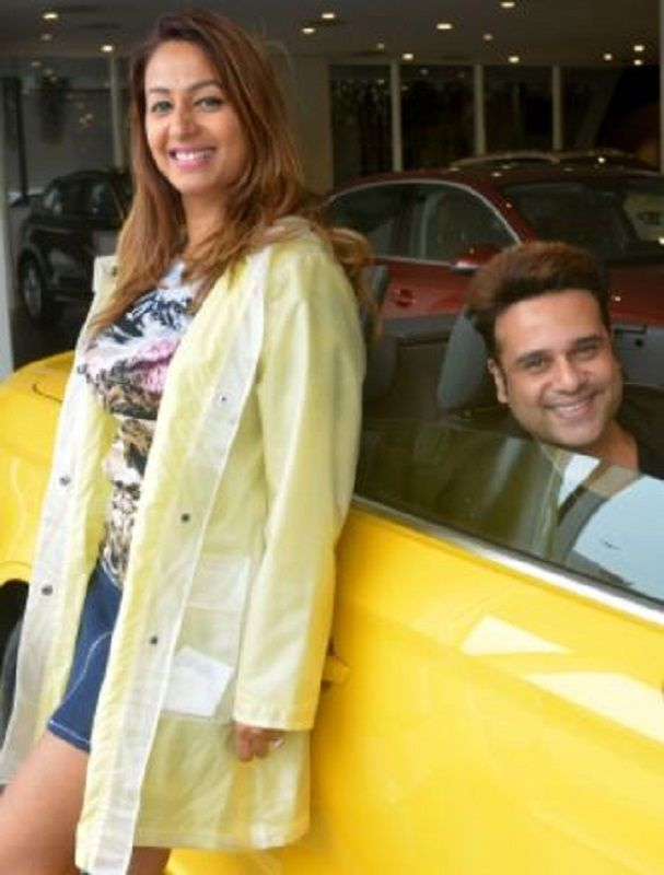 Krushna Abhishek Sitting in His Car