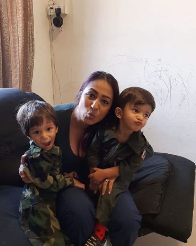 Kashmera Shah With Her Sons