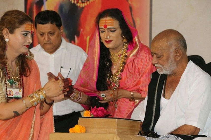Laxmi Narayan Tripathi and Morari Bapu