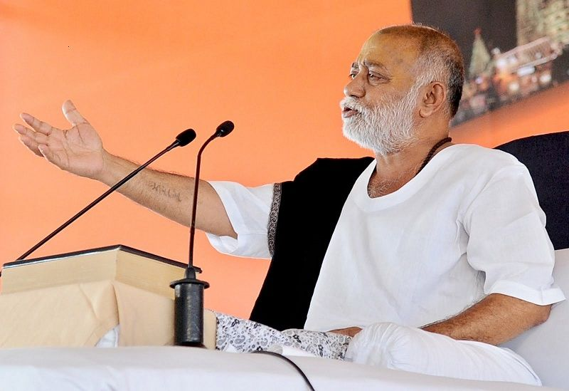 Morari Bapu While Reciting Katha