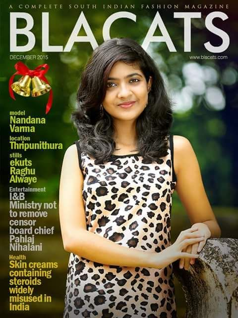 Nanadana Varma on the cover of Blacats Magazine