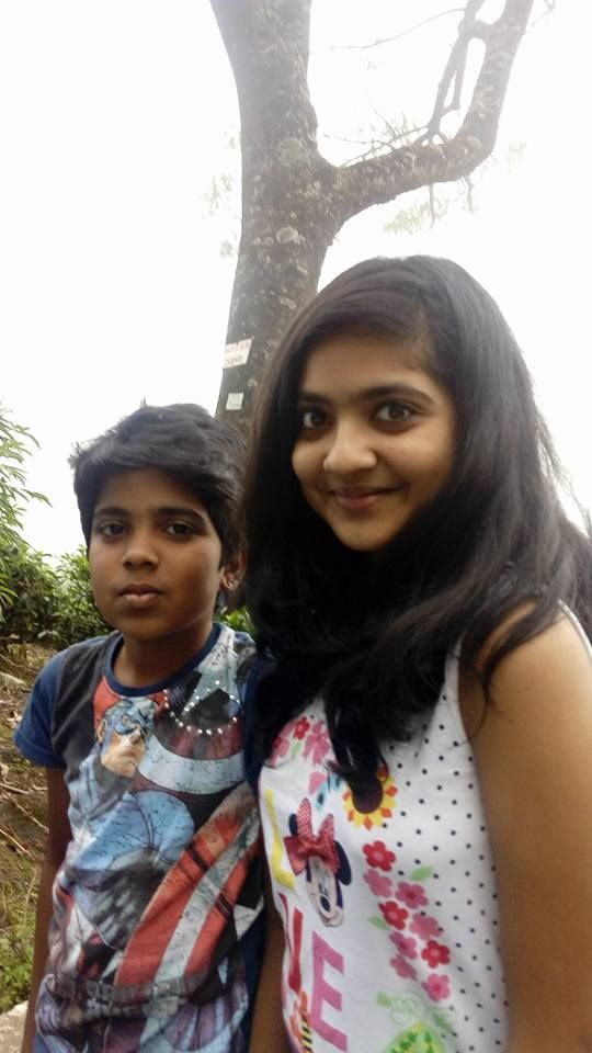 Nandana Varma with her brother