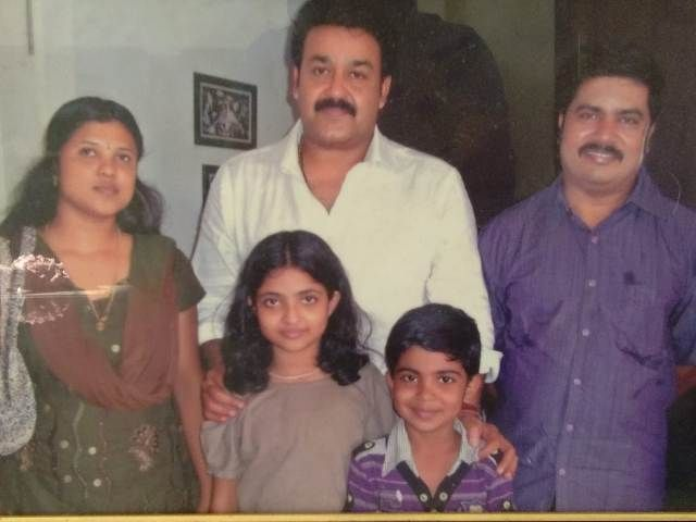 Nandana Varma with her family