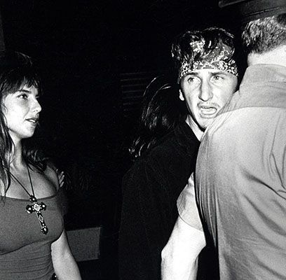 Nicolette Scorsese with Sean Penn