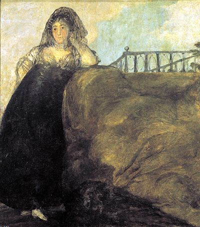 Painting of Leocadia Weiss by Francisco Goya