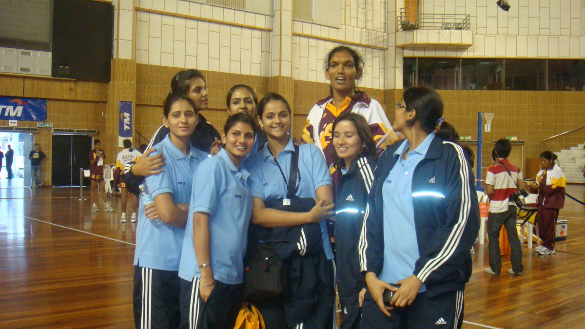 Prachi Tehlan with Girls Netball Team