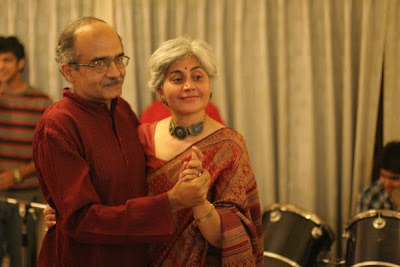 Prashant Bhushan with his wife Deepa Bhushan on her 50th birthday