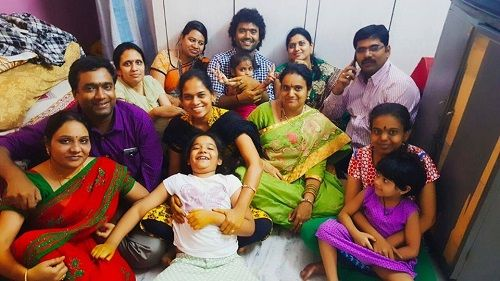 Raghu With His Family