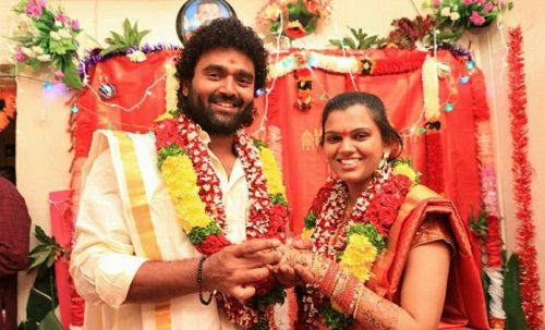 Raghu With His Wife