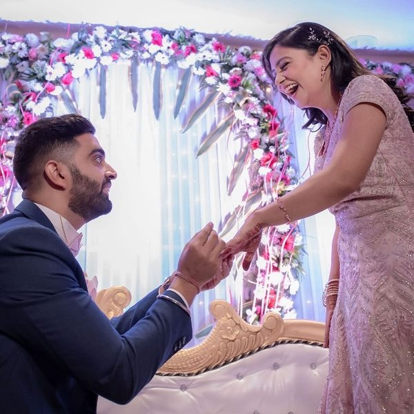 Rahul Dua and Nidhi Tyagi's engagement picture