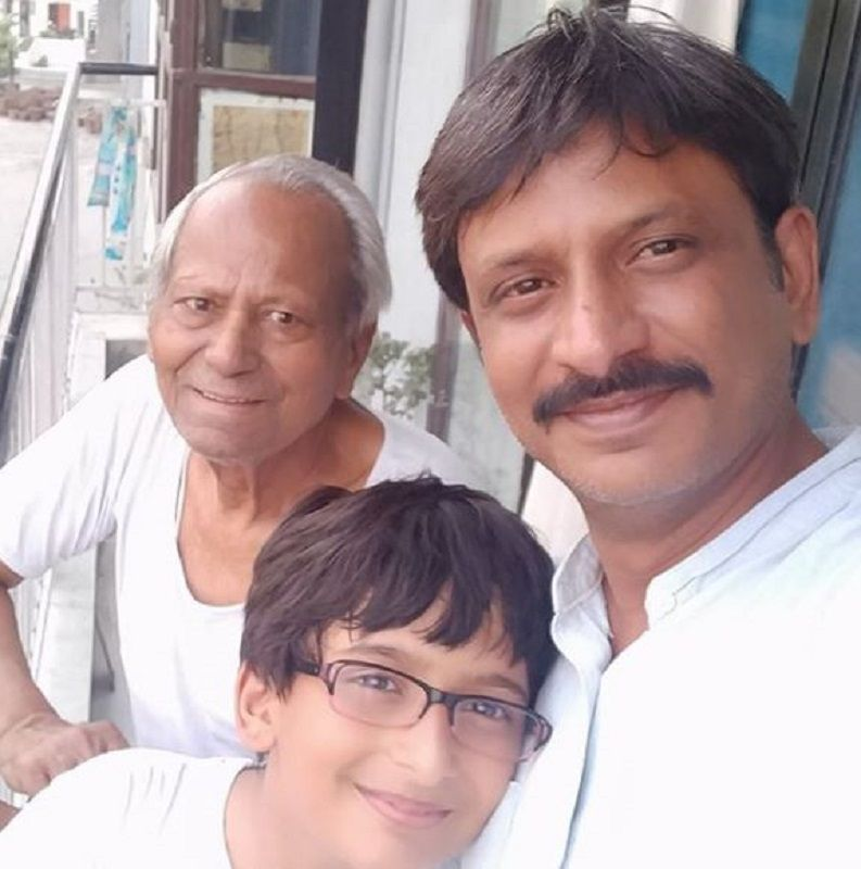 Rajesh Tailang With His Father and Son