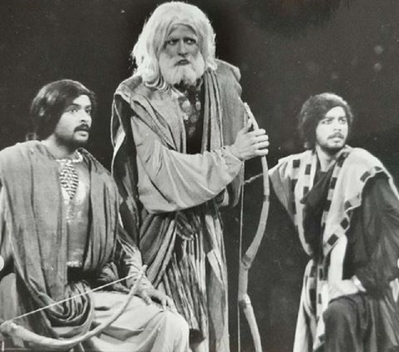 Rajesh Tailang in a Theatre Play