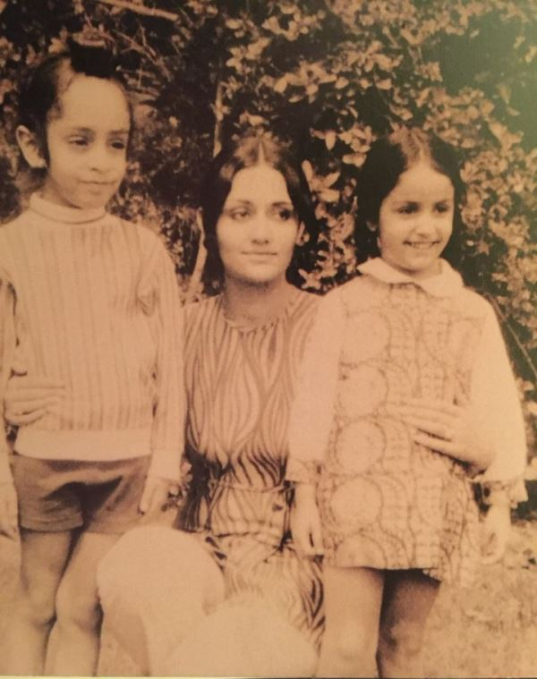 Rita Sawhney with her children Simar Dugal and Parmeet Singh Sawhney