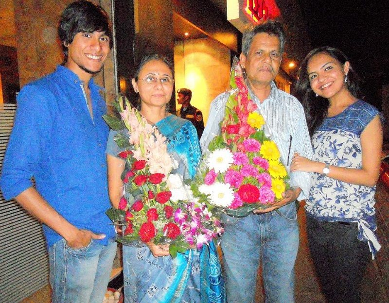 Ritwik Bhowmik With His Parents and Sister