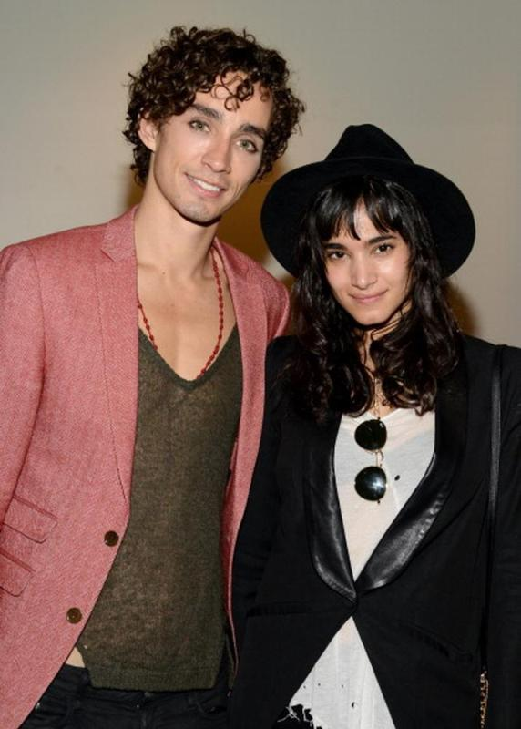 Robert Sheehan with his girlfriend Sofia Boutella
