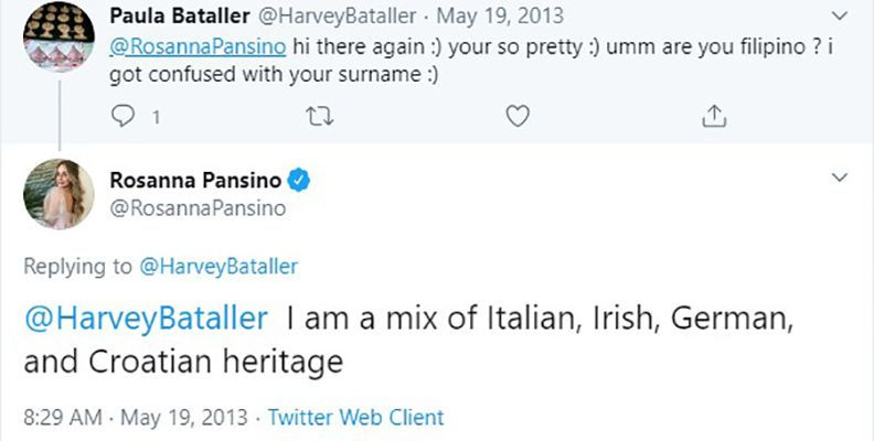 Rosanna Pansino's in her Tweet Telling About her Ancestry