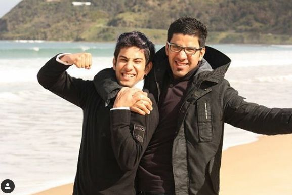 Sahil Uppal with his brother