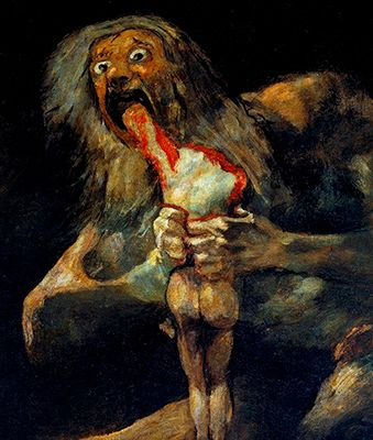 Saturn Devouring his Son- One of the Black Paintings by Francisco Goya