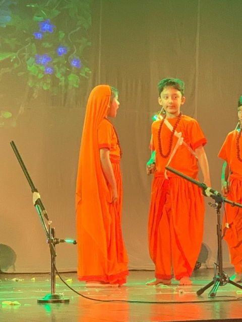 Shahraan Dutt during his school play