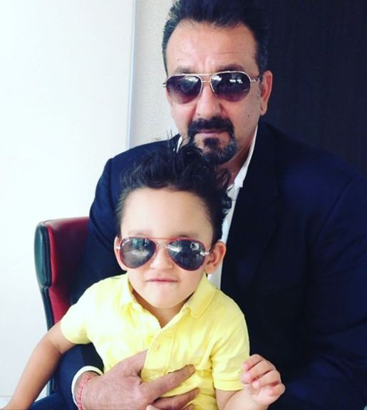Shahraan Dutt with his father