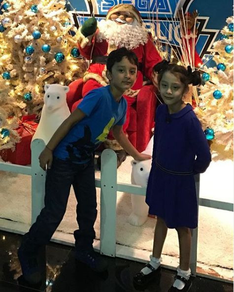 Shahraan Dutt with his sister
