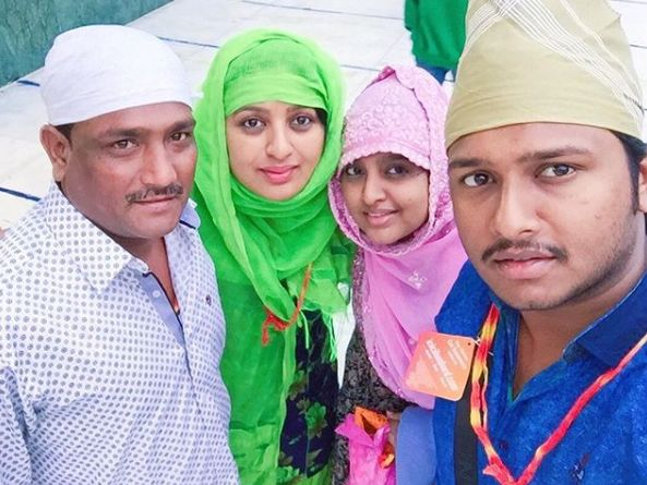 Shanoor Sana Begum with her family