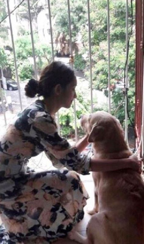 Shreya Chaudhary With Her Pet Dog
