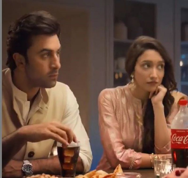 Shreya Chaudhary in a TV Advertisement