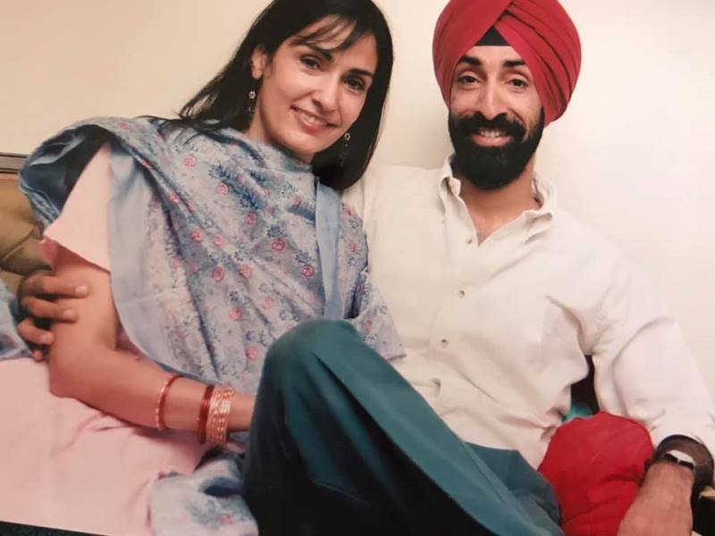 Simar Dugal with her brother Parmeet Singh Sawhney
