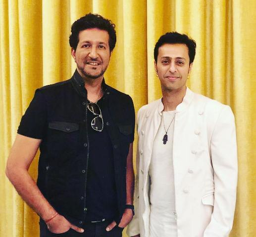 Sulaiman Merchant with his brother