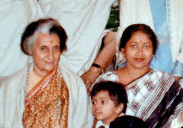 Suvra along with former Prime Minister of India Indira Gandhi