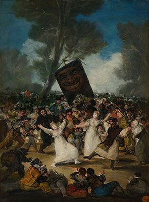 TheBurial of the Sardine by Francisco Goya