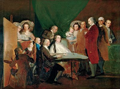 The Family of the Infante Don Luis by Francisco Goya