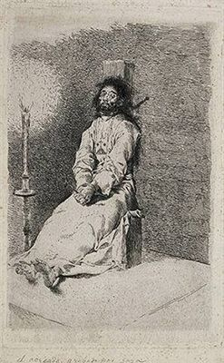 The Garrotted Man by Francisco Goya