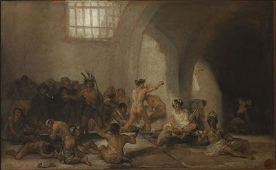 The Madhouse by Francisco Goya