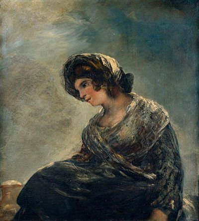 The Milkmaid of Bordeaux by Francisco Goya