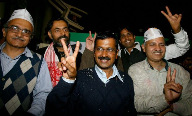 The founders of Aam Aadmi Party