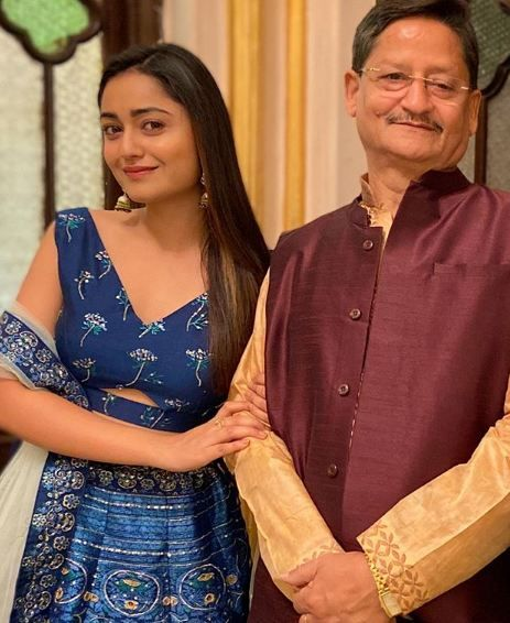 Tridha Choudhury with her father