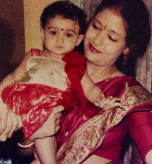 Tridha Choudhury's childhood picture