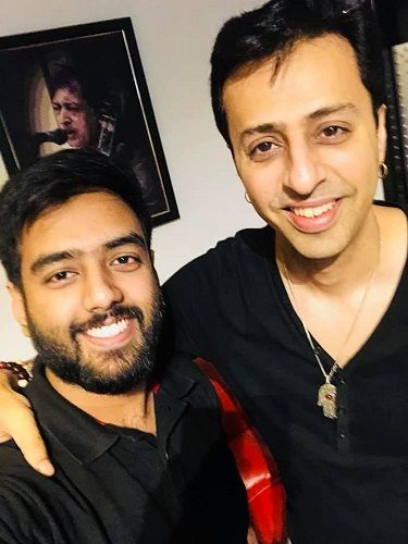 Yashraj Mukhate With Salim Merchant
