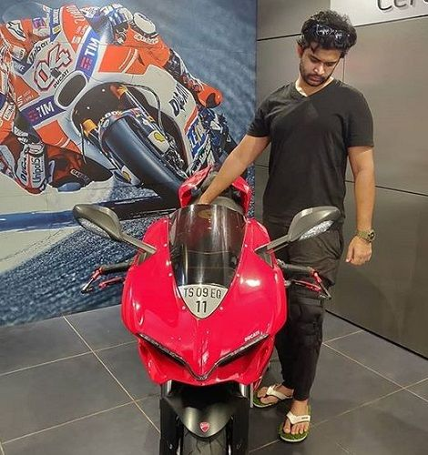 Abijeet Duddala and His Motorcycle
