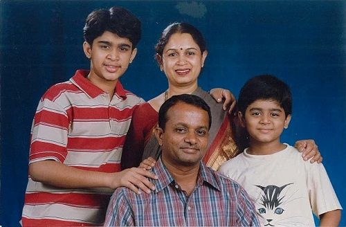 An Old Picture of Abijeet Duddala With His Family